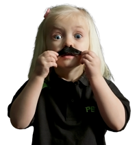 child with mustache